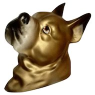 Golden Boxer Ceramic Dog Ceramic Wall Plaque Japan