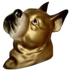 Golden Boxer Ceramic Dog Ceramic Wall Plaque Japan