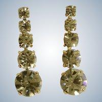 Dangling Crystal Diamond Rhinestone Earrings Stud Post Pierced Ear Costume Jewelry