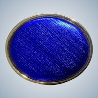 Vintage Belt Buckle Gorgeous Royal Blue Smooth Silky