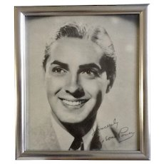 Tyrone Power Fox Suez Black & White Print Movie Portrait Vintage