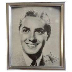 Vintage Tyrone Power Fox Suez Black & White Print Movie Portrait