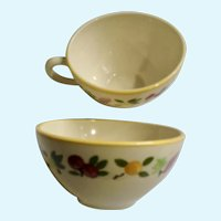 Franciscan Ware Small Fruit Flat Coffee Cup USA