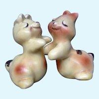 Bunny Rabbit Hug Salt and Pepper Shakers Van Tellingen