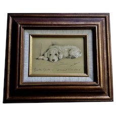 1930's-1940's Lucy Dawson, Poodle Dog Greta Garbo Framed Print from the Book, Dogs Rough And Smooth