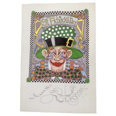 Jamie Hayes, Happy St. Patrick's Day, Signed Limited Edition Print Poster New Orleans French Quarter
