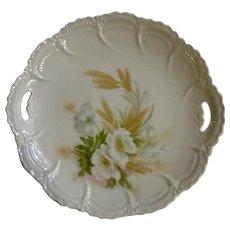 "Vintage Leuchtenburg Germany Floral Motif Transferware 9"" Porcelain Plate"