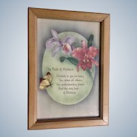 Vintage Mothers Poem 1940's Floral Print Picture