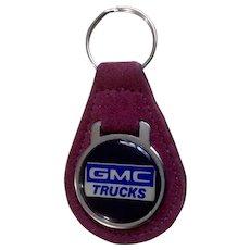 Vintage GMC Trucks Suede Car Keychain