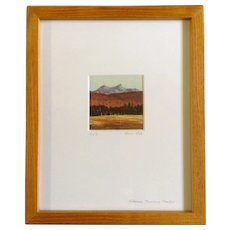 Micah Schwaberow, Original Master Woodblock Print, Moku Hanga, Works on Paper, 'Afternoon, Tuolumne Meadow' Signed by Listed Artist, #73 of 91 1988 Student of Toshi Yoshida Japan