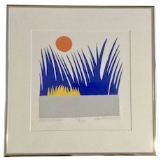 C. Daniel Gelakoska (-d 2015) Winter Breeze Signed and Numbered Serigraph Limited Edition Screen Print Listed Artist
