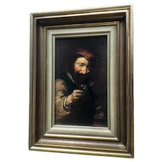 Vintage Print of an Old Masters Painting in a Gold Frame