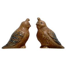 Quail Babies Pottery Figurines Mid-Century Adorable Fine Quality Made in Japan Mid-Century