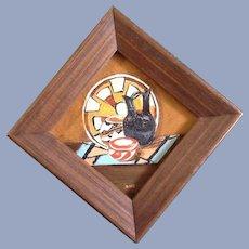Indian Basket Postage Stamp Oil Painting