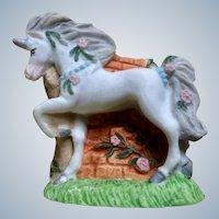 Princeton Gallery Unicorn Figurine Fantasy Hand Painted Miniature Porcelain Animal 1994 PG TM