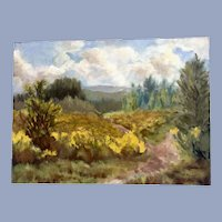 A. S. Mayers, Impressionist Rural Landscape Oil Painting on Board