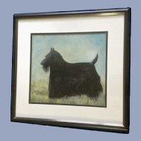LaVerne Snodgrass, Scottish Terrier Scottie Dog Original Pastel Painting