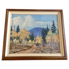 J. B. McCloskey, (Fray Jose) Autumn Vista Oil Painting on Canvas 1976 Signed by Artist