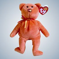 TY Beanie Baby Mastercard Holders Only Beanie Babies Exclusive Orange Stuffed Animal Plush Toy