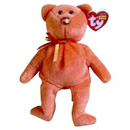 MasterCard Holders Only Retired Orange Beanie Baby From TY Beanie Babies Exclusive to TY