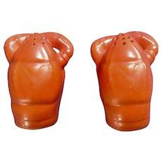 Vintage Orange Lobster Salt & Pepper Shakers Ceramic Japan