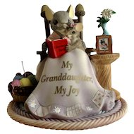 My Precious Granddaughter Collection 2007 Charming Tails, 'My Granddaughter, My Joy' Figurine Discontinued
