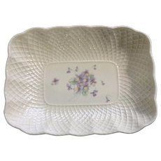 Lila Mikasa Purple Violets Bone China Vegetable Plate Bowl Narumi Japan 82006