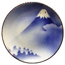Antique Japanese Igezara Arita Ware Mount Fuji Charger Serving Platter Stamped by Artist