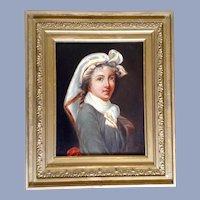 1878 Lady Portrait Oil Painting Monogrammed S. A. P.