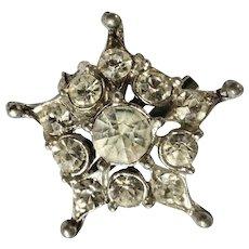 "Vintage Diamond Rhinestone Star Brooch Pin Costume Jewelry 1"""