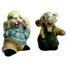 Japan Mouse Anthropomorphic Salt and Pepper Shakers