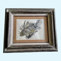 Elly Tepper, Lion Fish Limited Edition Serigraph Print Signed
