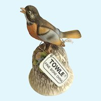 Robin Bird Bell Figurine Towle Fine Bone China