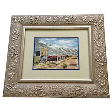 Lillian Kern, St. Elmo Ghost Town, Watercolor Painting Works on Paper 1973 Signed By Colorado Artist