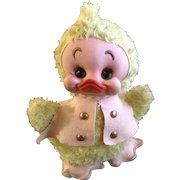 Rushton Duck Rubber Face Plush Rushton Star Creation Atlanta Georgia Mid-Century Toy Stuffed Animal 1950's Toy