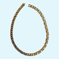 """Lovely Gold-Tone Silver-Tone 17-1/2"""" Necklace"""