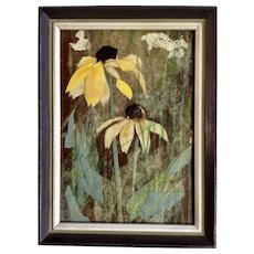 Ann Haymond Zwinger (1925–2014) Black-Eyed Susans Sunflowers Collage