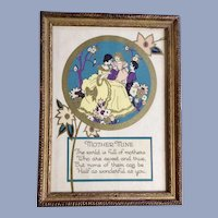 Vintage Mother Mine Poem Print R D F Company New York