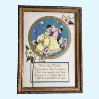 Vintage Mother Mine Poem Print R D F Company New York