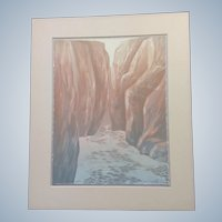 Greg McBride Original Serigraph Screen Print Signed Artist Proof 1987 Canyon Spring Limited Edition
