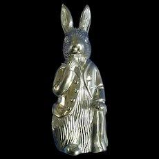 Vintage Peter Rabbit Figure Bank Godinger F. Warne & Co. Silver Plated