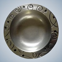 Large Wilton Armetale Pewter Serving Salad Bowl RWP