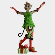 Retired Margaret Le Van Sexy Alley Cats Christmas A Go-Go Girl Figurine