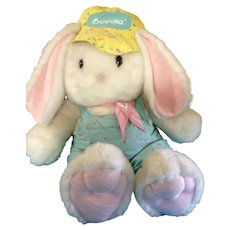 "Hallmark Crayola Crayon Bunny 1989 - 1990 Limited Edition Huge 41"" inches Tall Stuffed Plush Animal with Original Tush Tag Easter"