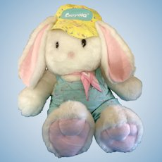 "Easter Hallmark Crayola Crayon Bunny 1989 - 1990 Limited Edition Huge 41"" inches Tall Stuffed Plush Animal with Original Tush Tag"