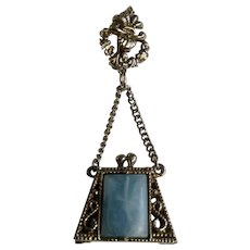 Beautiful Purse Silver-tone Costume Jewelry Brooch Pin