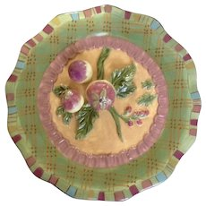 Tracy Porter Trompe L'oeil Vegetables Decorative Plate Hand Painted Signed by Artist