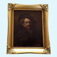 Kr Kellogg, Rembrandt Van Rijn Self Portrait Oil Painting 1927