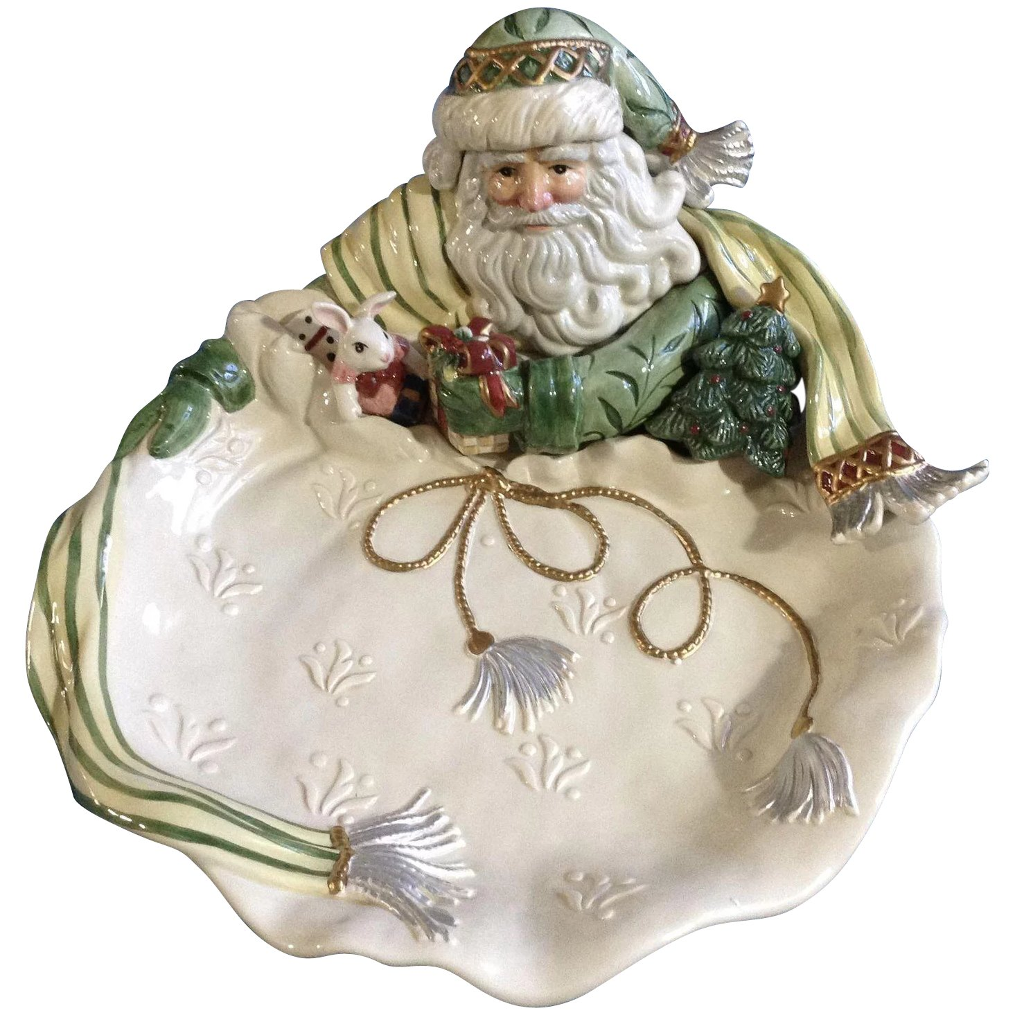Fitz And Floyd Christmas 2021 Gregorian Collection By Fitz Floyd Christmas Santa Claus Green Hat Gumgumfuninthesun Ruby Lane