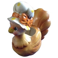 Rare Josef Originals Mother Hen Small Chicken Anthropomorphic Planter Made in Japan